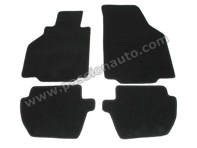 tapis de sol 4 pieces noir uni 996 passionauto com passionauto com. Black Bedroom Furniture Sets. Home Design Ideas