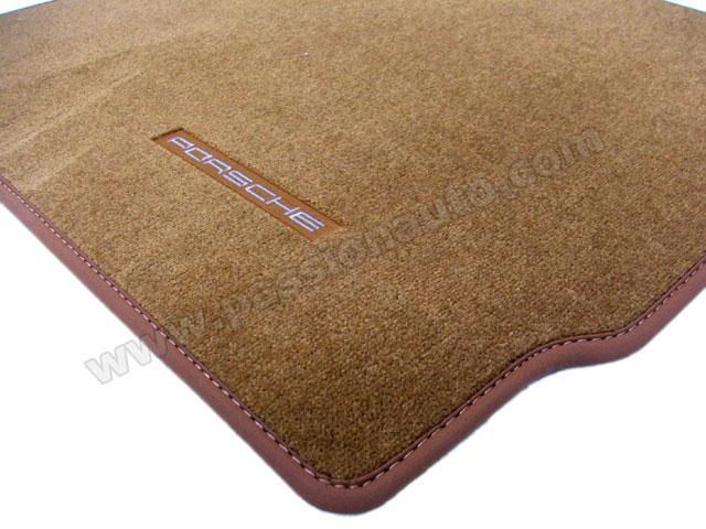 tapis de sol porsche brun nature 997 passionauto com passionauto com. Black Bedroom Furniture Sets. Home Design Ideas