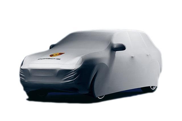 Housse int rieur porsche gris logo cayenne 955 957 03 for Housse porsche 911