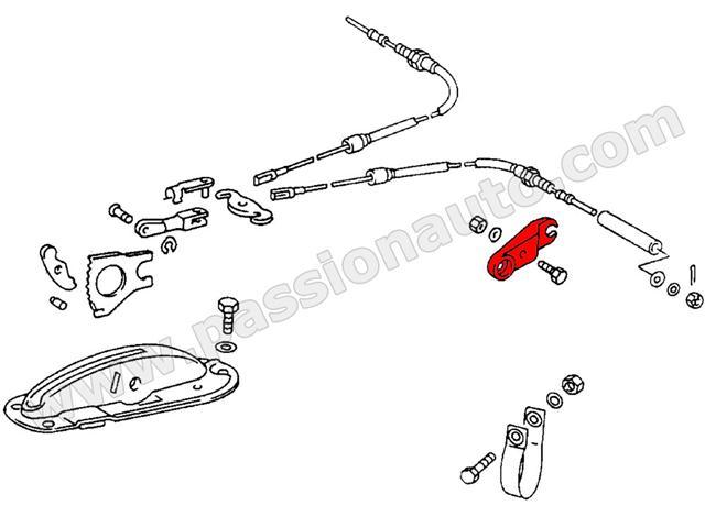 guide de cable de frein main gauche 911 69 73 passionauto com passionauto com. Black Bedroom Furniture Sets. Home Design Ideas