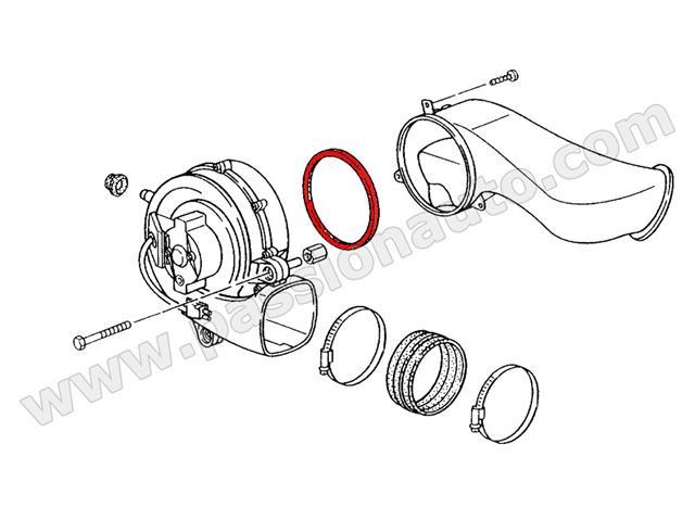 joint entre soufflerie air chaud moteur et raccord air chaud 964 965 993 passionauto com. Black Bedroom Furniture Sets. Home Design Ideas