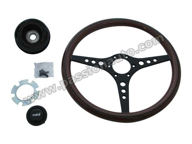 volant 360 mm bois clair liseret noir branches noir 914 6 passionauto com. Black Bedroom Furniture Sets. Home Design Ideas
