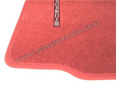 tapis de sol porsche rouge carrera 997 passionauto com passionauto com. Black Bedroom Furniture Sets. Home Design Ideas